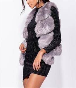 Cassia Gray Faux Fur Gilet