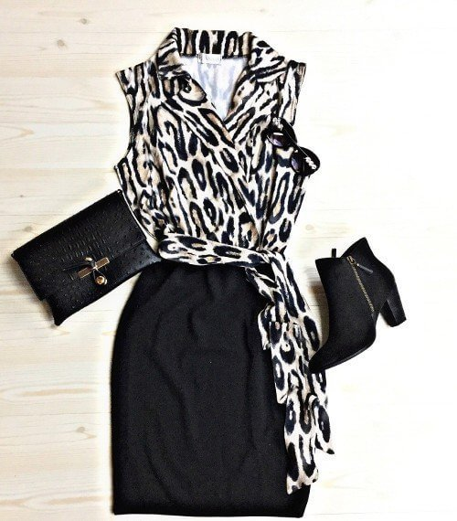 Wear a foxy lil animal print number with ankle boots to take you from the office to cutting a rug!