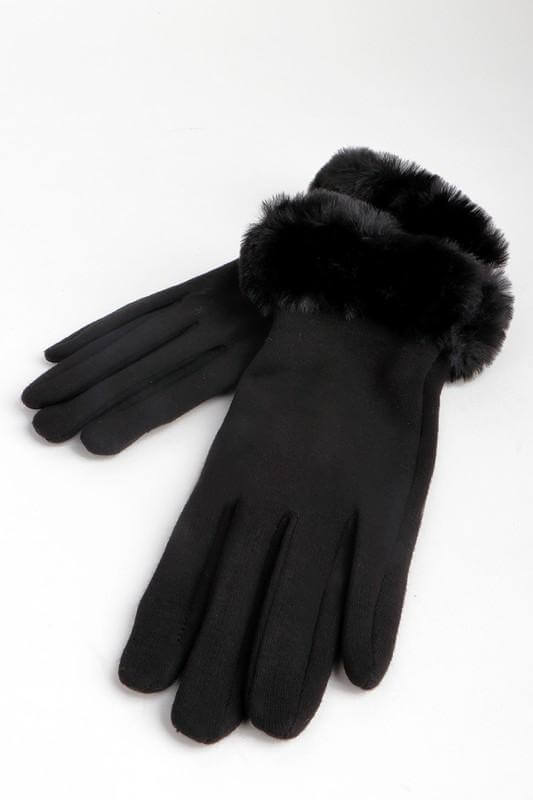 Penelope Faux Fur Cuffed Gloves