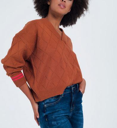 Camel Diamond Sweater