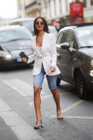 Same kind of look, but, worn with a white blazer, perfect for brunching.